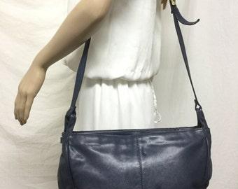 Courtenay, Large leather purse,bag,bags,purses, Blue Leather, Shoulder Bag
