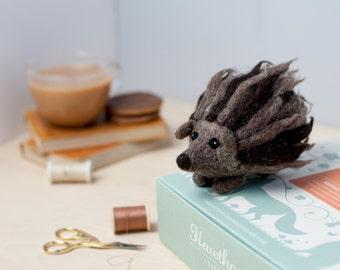 Hedgehog Needle Felting Kit - Hedgehog Craft Kit - craft kit gift - felt hedgehog project - hedgehog craft kit for adults - textiles project