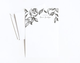 Personalized Letter Writing Sheets | Botanical Personalized Stationery Set with Custom Writing Paper