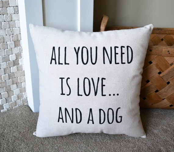 canvas dog themed decorative pillow