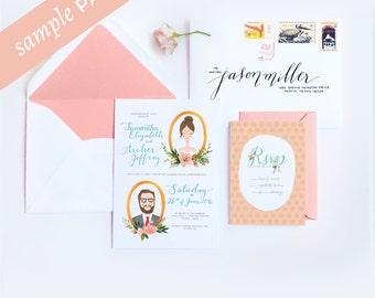 Samantha Collection - Wedding Invitation (Sample Kit)