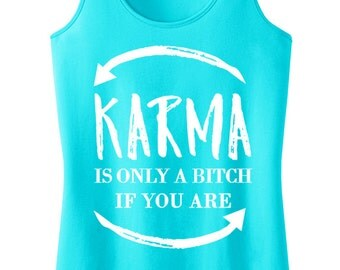 KARMA Tank Top Pick Color, Workout Tank, Yoga Workout Tanks, Yoga Shirt, Gym Tank, Yoga Shirts, Karma Shirt