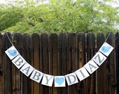 Baby plus Custom Name Banner / Baby Shower / Nursery Sign / Baby's Name / Personalized Name/ Nursery Sign/ Nursery Garland/ Babys Name, Bird