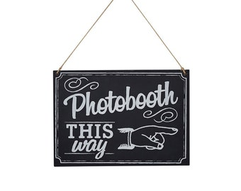 Chalkboard Photo Booth Wooden Sign | Photobooth Props | Chalkboard Wedding Sign | Photo Booth Sign