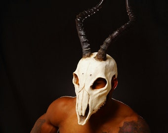 Impala skull mask with long horns sz LG/XL