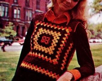 Classic Granny Vest Vintage Crochet Pattern Download