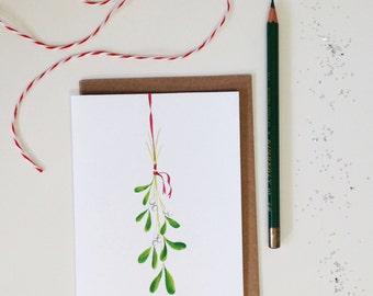 Christmas Card // Mistletoe // Holiday Mistletoe Card