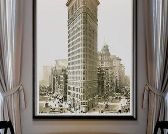 "Flatiron Building Print poster : Vintage New York Flatiron ""Fuller Building"" Print 1903"