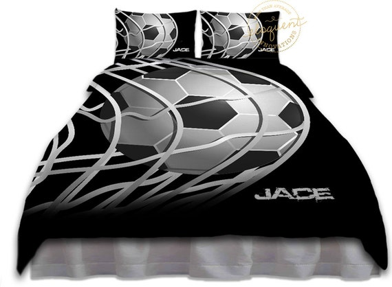 les gar ons football housse de couette ado football literie. Black Bedroom Furniture Sets. Home Design Ideas