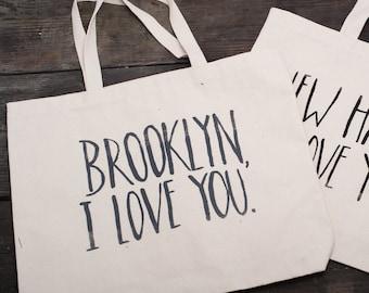 Large Brooklyn, I Love You Tote