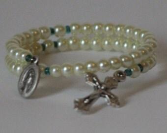 Child's Ivory Wrap Rosary Bracelet