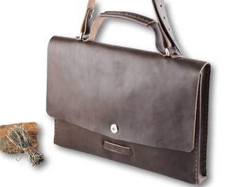 Posh messenger bag #toxleather   Brown leather messenger   Handmade courier bag   Leather satchel