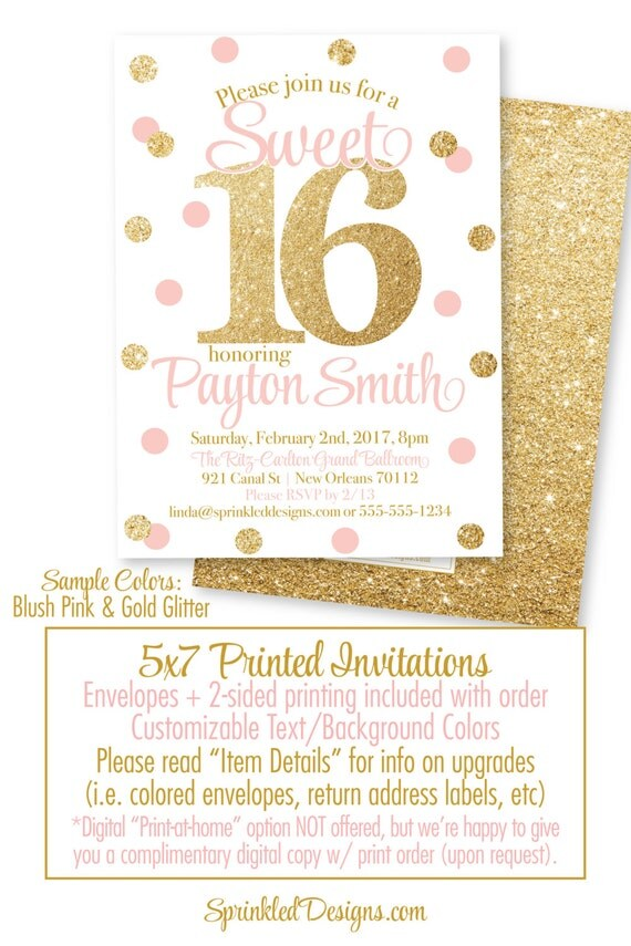 Sweet 16 invitations pink and gold glitter sweet sixteen il570xn filmwisefo