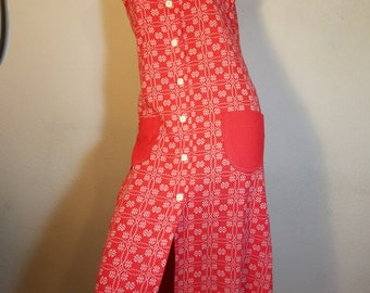 FREE  SHIPPING  Vintage 1960 Mod Abstract Maxi