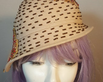FREE  SHIPPING   Authentic  Cloche  Hat