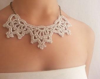 Beach wedding necklace Silver bridal necklace Wedding necklace bridesmaid