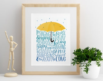 Singing in the Rain | Digital Print