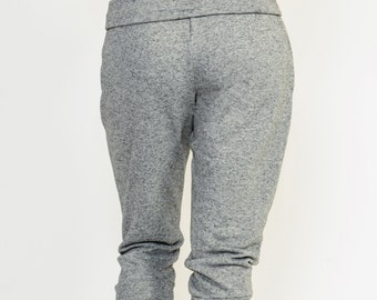 """Cozy Sweat Pants """"Never Quit"""" - Grey Heather - Free shipping with  """"Core by Sha"""" coupon code"""