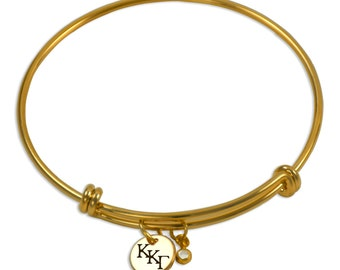 Kappa Kappa Gamma Sorority Bracelet / Sorority Bangle / Kappa Bangle / Sorority Jewelry / Kappa Kappa Gamma Jewelry / Kappa Kappa Gamma Gift