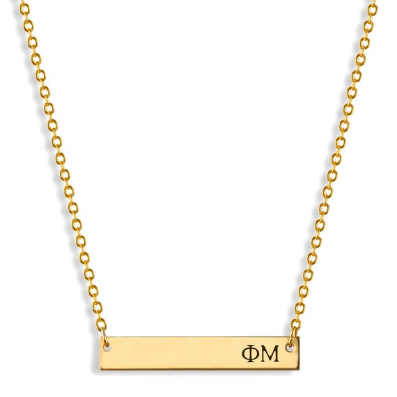 phi mu bar necklace phi mu necklace sorority necklace