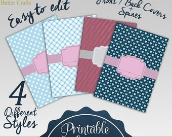 Printable Binder Covers:  4 Different Styles | Including To Do Lists for Organization | 3 Different Spine Sizes for Each Style