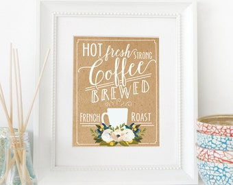 Coffee Bar Sign | DIY Printable | INSTANT DOWNLOAD | Kitchen Decor | Printable Art | Art Print | Coffee Bar Sign | Coffee Themed Decor