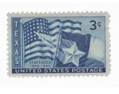 1945 3c Texas Statehood - 10 Unused Vintage Postage Stamps - Item No. 938