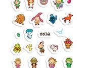 The Legend of Chibi ~ The Legend of Zelda ~  Sticker Sheet 70mm x 100mm