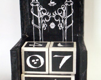 Tolkien inspired, the Gates of Moria from The Lord of The Rings wooden perpetual calendar