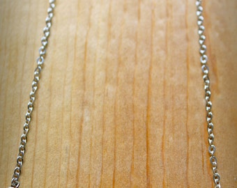 African Porcupine Quill Bar Necklace-Silver