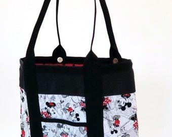 Disney Handmade Fabric Handbag, Tote, Computer Bag, or Purse made from Disney Fabric for all occasions the Lena Bag
