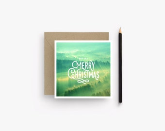 Merry Christmas card green
