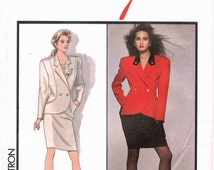 Vintage Retro Sewing Pattern - Lady's Lined Skirt Lined Jacket - Ozbek for Style 1200 - Size 8 - 20 Eur 40 in English French