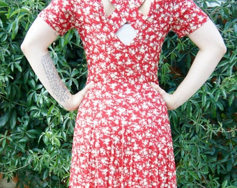 Vintage Cutout Maxi Floral Sundress