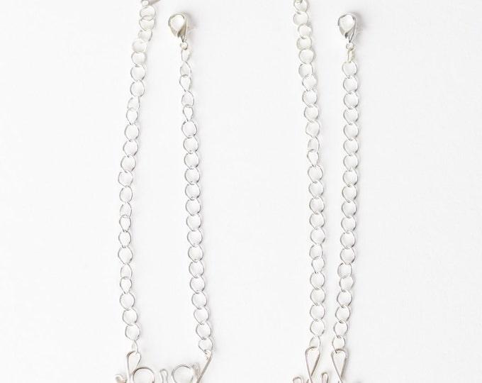 Big and Little Sister Bracelet Set (Silver)