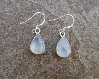 Rainbow Moonstone Earrings, Rainbow Moonstone Silver Jewelry, June Birthstone, Wedding Jewelry, Gift