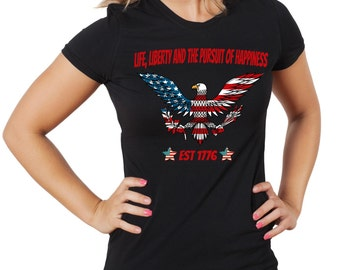 4th July Woman T-Shirt Independence Day Tee Shirt