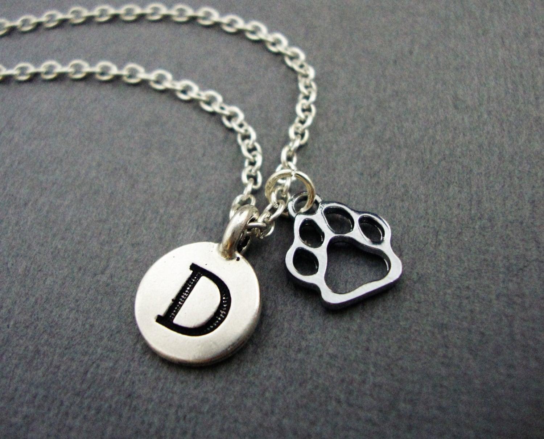 paw print necklace paw print keychain custom paw print