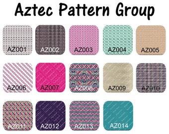 Custom Printed 12 x 12 Vinyl - Aztec, Tribal, Color Prints, Pattern Vinyl, Aztec prints, Tribal prints