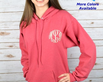 Monogrammed Sweatshirt Hoodie Pullover Personalized Embroidered
