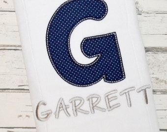 Personalized Baby Boy Burp Cloth/Personalized Baby Boy Grey and Navy Burp Cloth/Monogram Boy Gift Burp Cloths/FREE SHIPPING
