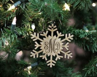 Custom Ornament, Snowflake Name Ornament, Personalized Christmas Ornament, Custom Ornament, Name Wooden Ornament, Rustic Christmas --6512