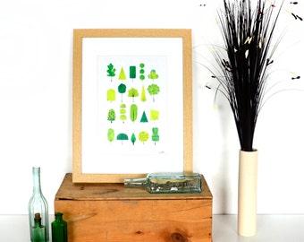 Green Nature Print