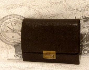 Victorian sovereign purse - Victorian coin purse - Victorian change purse - Victorian châtelaine purse - small leather purse - Pocket purse