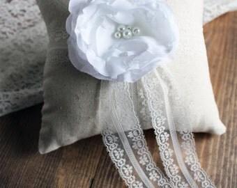 Wedding Ring Pillow, Shabby Chic Ring Bearer, Rustic Ring Bearer Pillow, Rustic Ring Bearer, Shabby Chic Wedding, Lace Ring Bearer Pillow