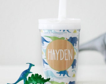 Personalized Kids Cup Custom sippy cup kids tumbler dinosaur party