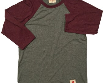Heather Red/Gray Baseball Tee