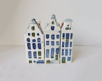 Blue Delft China Miniature Houses 11 x 4 cm /  4.3 x 1.6 inch