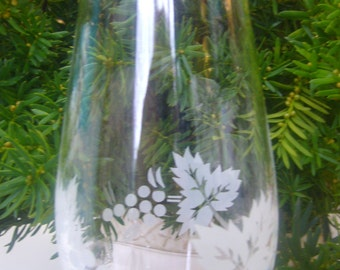 Rayware Etched Glass Vase, Made in Turkey