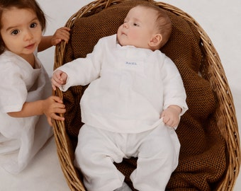 BIO christening suit of Paul made of fine linen